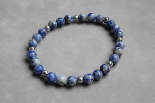 "Bracelet ""Naturea"" Sodalite et Hématite"