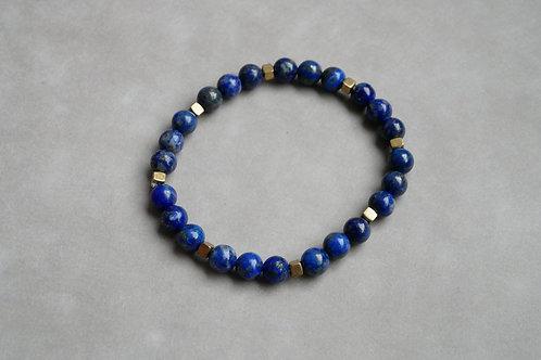 "Bracelet ""Naturea"" Lapis-Lazuli et Hématite bronze"