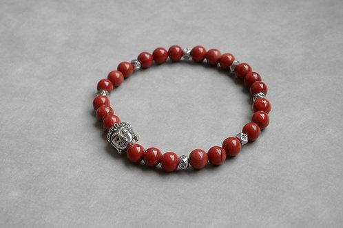 "Bracelet ""Naturea"" Jaspe Rouge et Bouddha"