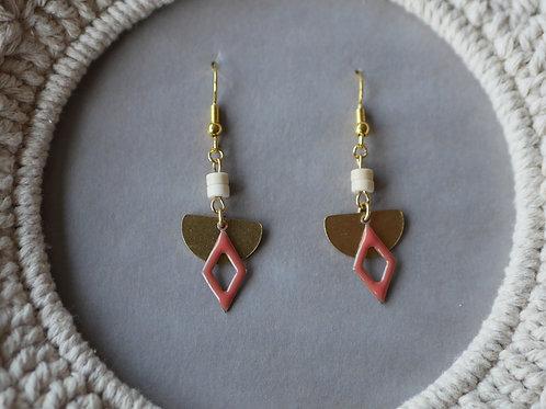 Boucles d'oreilles Mona - Boucles d'oreilles pendantes en laiton