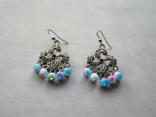 Driskela bleuté - Boucles d'oreilles fantaisies