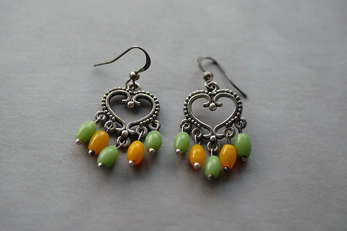 Acoria Jaune et vert - Boucles d'oreilles fantaisies