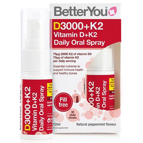 BetterYou DLux+ Vitamin D+K2 Oral Spray 12ml