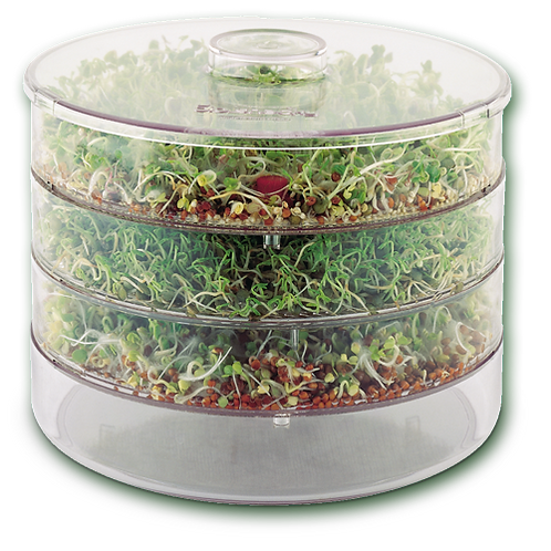 A Vogel (BioForce)  BioSnacky Germinator Seed Sprouter Large 3 Tier