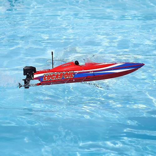 """Proboat Lucas Oil 17"""" Power Boat Racer Deep-V RTR, Red"""