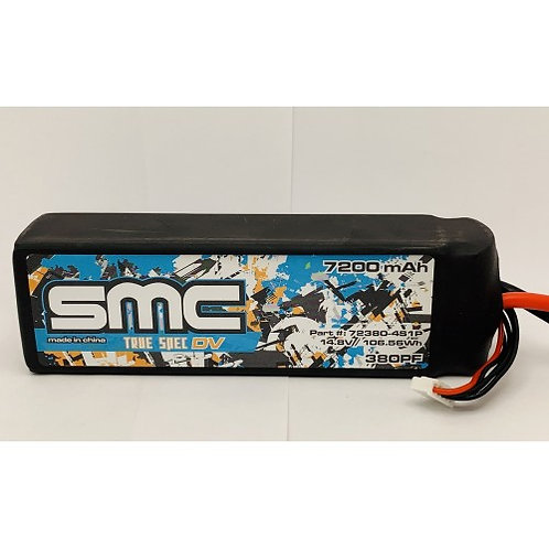 SMC True Spec DV 14.8V 7200mAh 75C with G10 plates (Traxxas Connector)