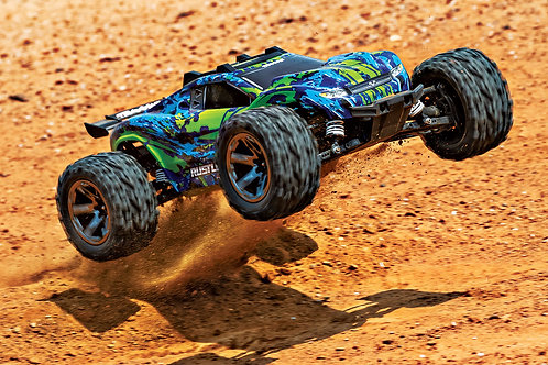Traxxas Rustler 4x4 VXL Brushless Stadium Truck (Green/Blue)