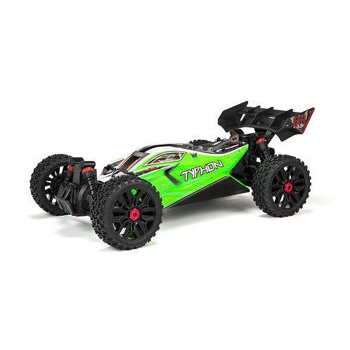 Arrma 1/8 TYPHON 4X4 V3 MEGA 550 Brushed Buggy RTR, Green