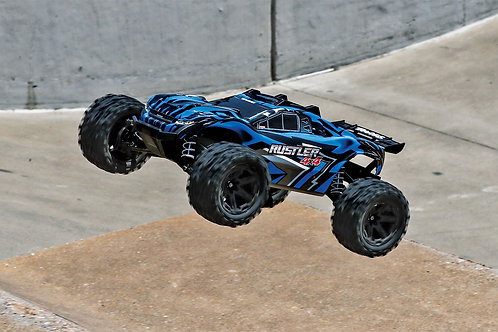 Traxxas Rustler 4x4 XL-5 Brushed w/battery and car charger (Blue)