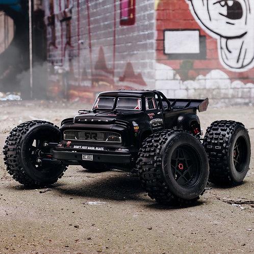 Arrma 1/8 NOTORIOUS 6S V5 4WD BLX Stunt Truck with Spektrum Firma RTR, Black