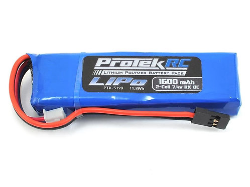 ProTek RC Lightweight LiPo Receiver Battery Pack 1600mAh
