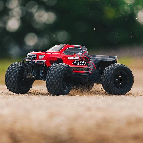 Arrma 1/10 GRANITE MEGA 550 Brushed 4WD Monster Truck RTR, Red/Black