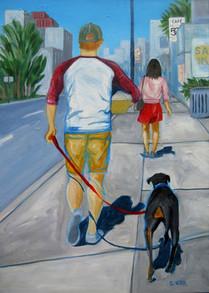 Walk the Dog, 28 x 20