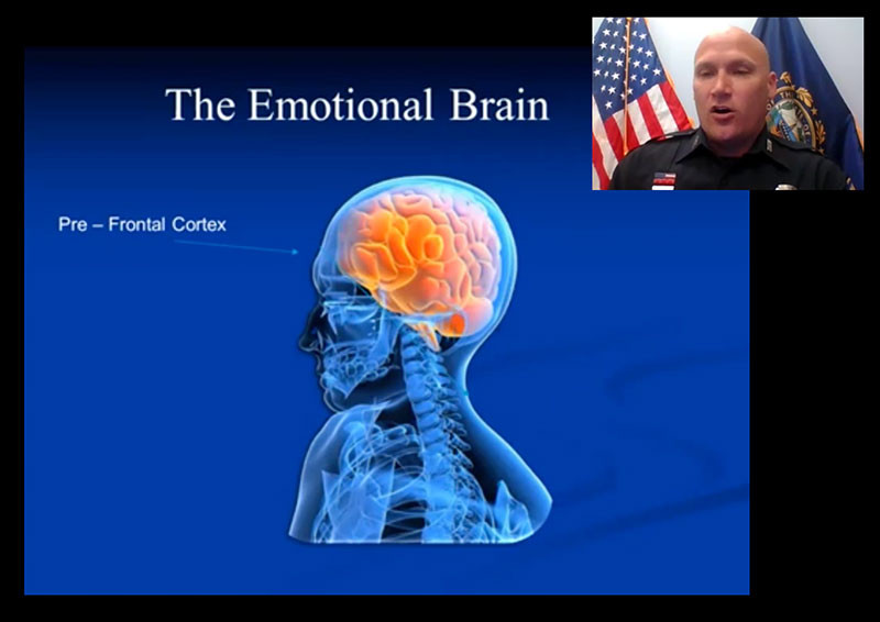 Officer Linstad speaking about the emotional brain