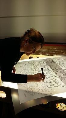 Estampille serigraphie résidence d'artiste Darya Carrat Maroz