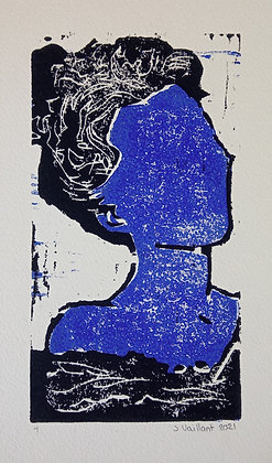 VAILLANT Jeanne, Blue woman in bath