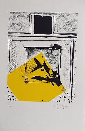 MORGAT PETIT M-J, Carré jaune-noir