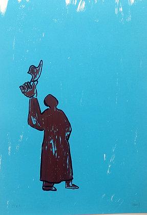 BARRY Jacques, Homme en bleu