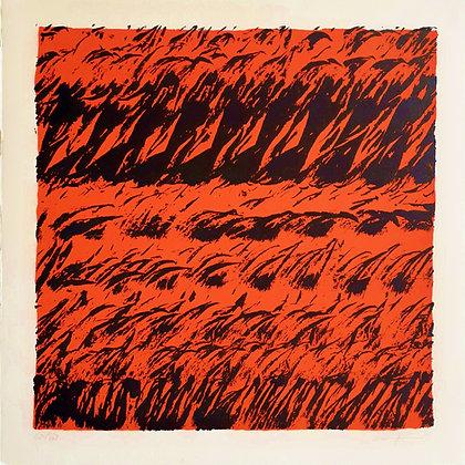 Marie-Josée Morgat Petit, Brises fond rouge