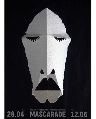 affiche exposition estampille serigraphie mascarade Pascaline de Glo de Besses
