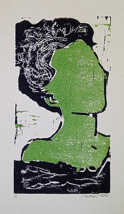 VAILLANT Jeanne, Green woman in bath