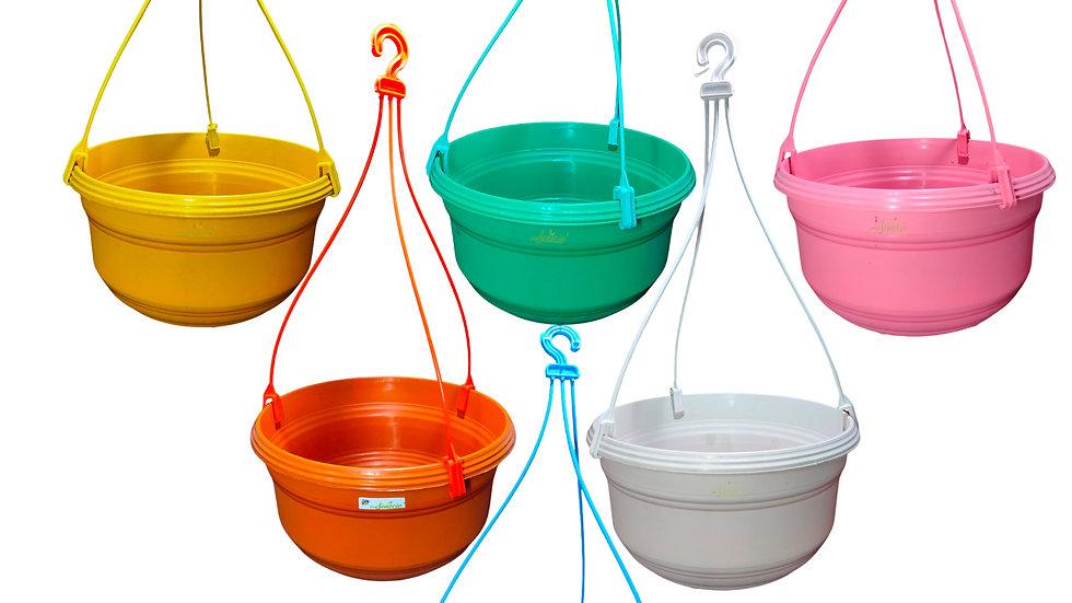 SENECIO® Set of 6 Hanging Flower Pot 9.5 Inch Reusable Recyclable Nursery Pots