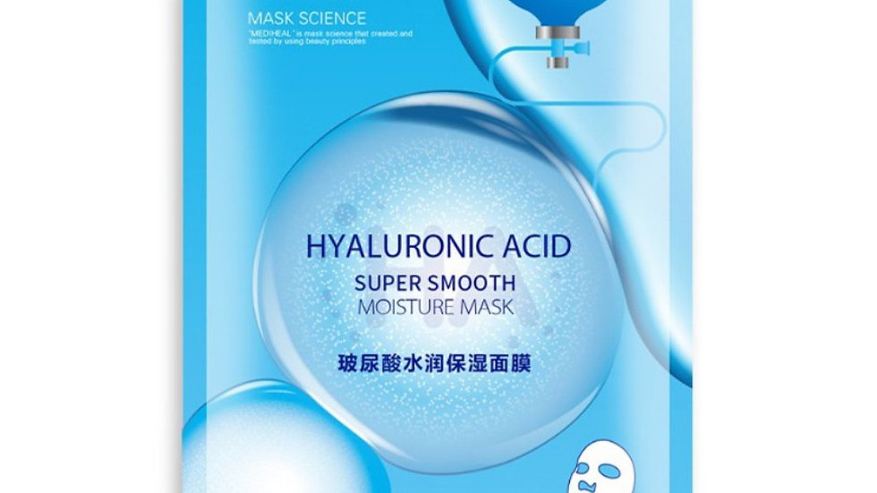 HYALURONIC ACID SUPER SMOOTH MOISTURE NOURISH UNISEX FACIAL MASK