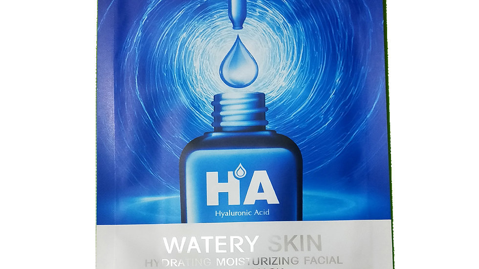 HA Hyaluronic Acide Watery Skin HYDRATING MOISTURE NOURISH UNISEX FACIAL MASK