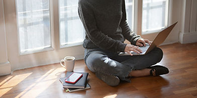 woman-in-gray-sweat-shirt-sitting-beside