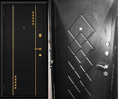 Стальная дверь Манхеттен с перфорацией.   Россия(Вологда)