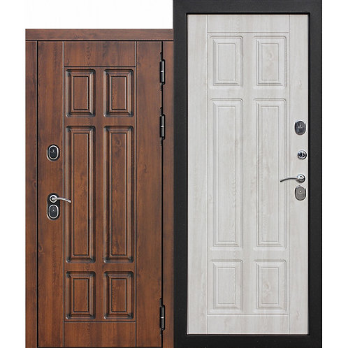 ISOTERMA сосна белая Морозостойкая дверь с терморазрывом 13 см.