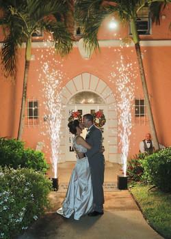 Fireworks Wedding, Florida