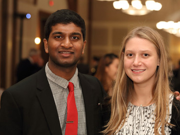 Ashwinraj and Isabelle Present to Thornton Society