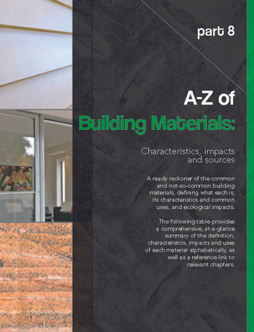 Part 8: A-Z of Building Materials