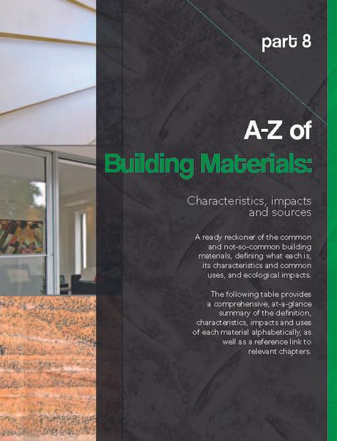 Part 8: A-Z of Building Materials