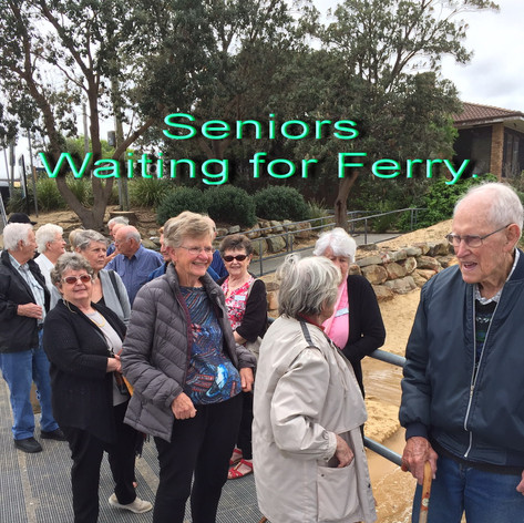 Seniors waiting for Palm Beach ferry for