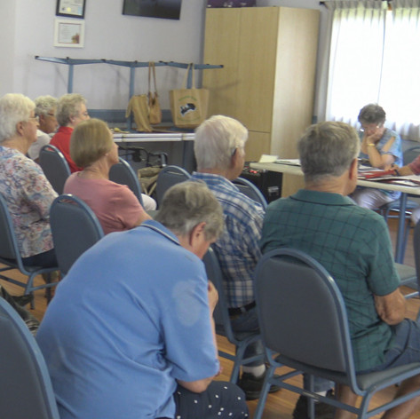 Members at their monthly meeting