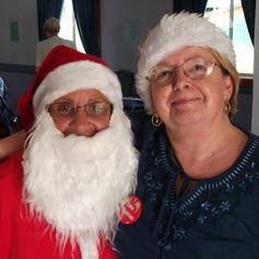 Senior Citizens celebrating Christmas lu