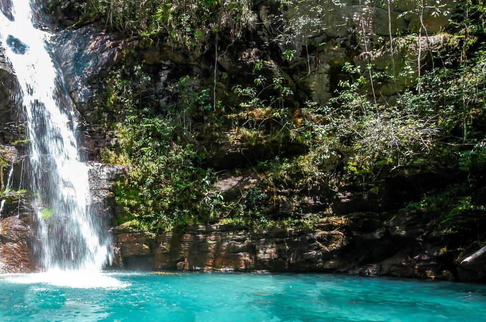 Cachoeira Santa Bárbara, Cavalcante - Chapada dos Veadeiros, Goiás.