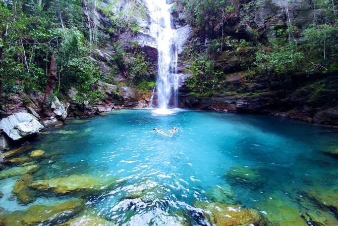 Cachoeira Santa Bárbara, a queridinha de quem vem para a Chapada!