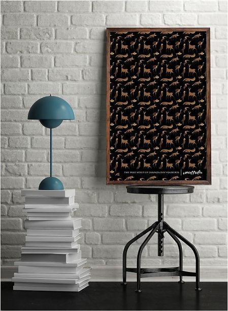 Poster da coleção fauna da Chapada dos Veadeiros da Mattula Souvenirs. The Free Spirit of Chapada dos Veadeiros.