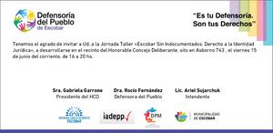 Escobar Sin Indocumentados. Derecho a la Identidad Jurídica