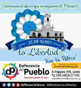 Defensoria del Pueblo Lanús  25 de mayo de 1810