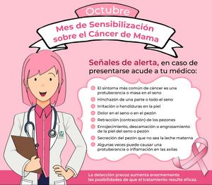 Octubre es el mes de sensabilización sobre el #cancerDeMama.