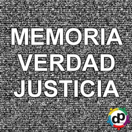 Sábado 24 de marzo 2018 Día Nacional de la Memoria por la Verdad y la Justicia