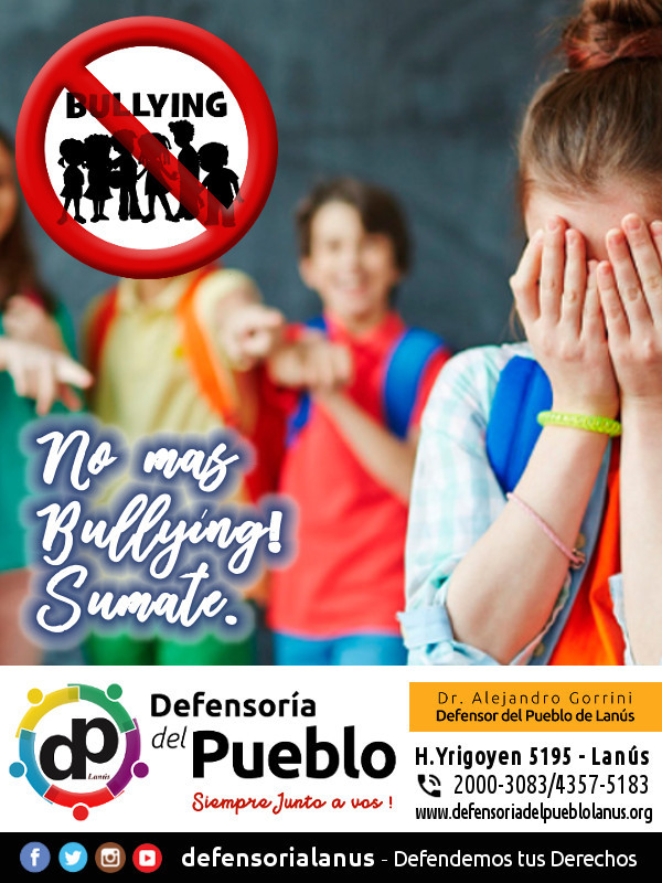 Sumate a la campaña contra el Bullying - Defensoría del Pueblo Lanús