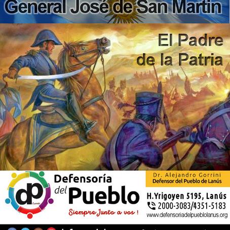 Conmemoramos al General San Martín, el padre de la Patria, el Libertador de América.