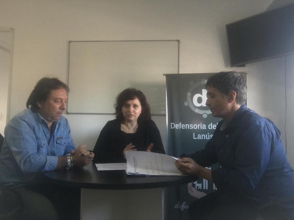 Alejandro Gorrini recibió a Karina Nazabal de la Defensoría del Pueblo de la Pcia. de Buenos Aires