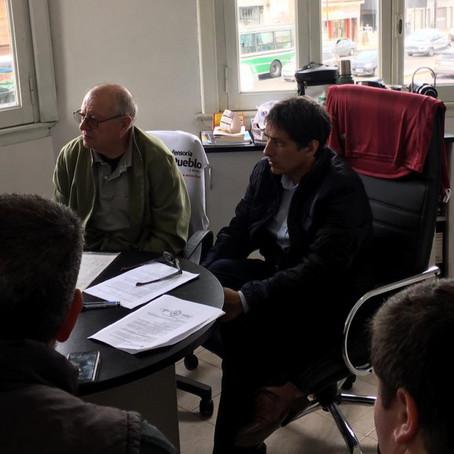 El Defensor del Pueblo recibió a vecinos preocupados por el estado de la traza Alsina/Bonzi