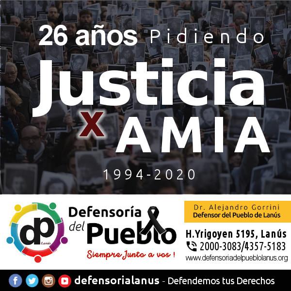 #AMIA #26AñosPidiendo #Justicia #DefensoríaDelPuebloLanús